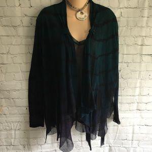 Art of Cloth boutique sheer tie dye mesh twinset